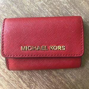 Michael Kors compact wallet with key chain